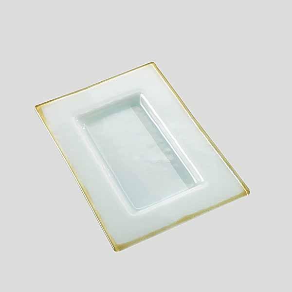 Piattino grande - piatto per gelato in vetro - Gardagel