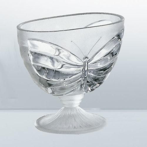 Coppa Farfalla - coppa in vetro satinato - Gardagel