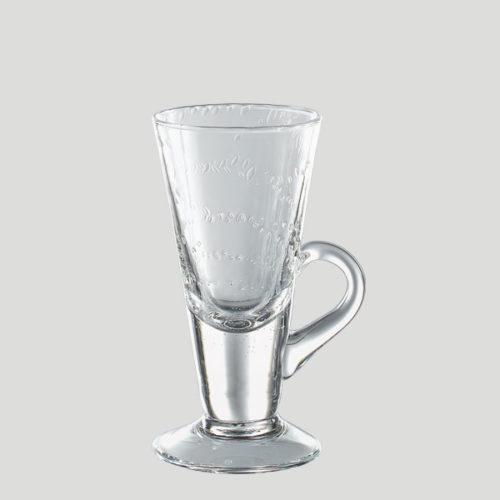 Bicchiere cono piccolo con manico - bicchiere in vetro per caffetteria bar - Gardagel