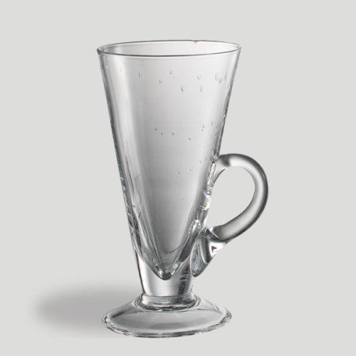 Bicchiere cono grande con manico - bicchiere in vetro per caffetteria bar - Gardagel