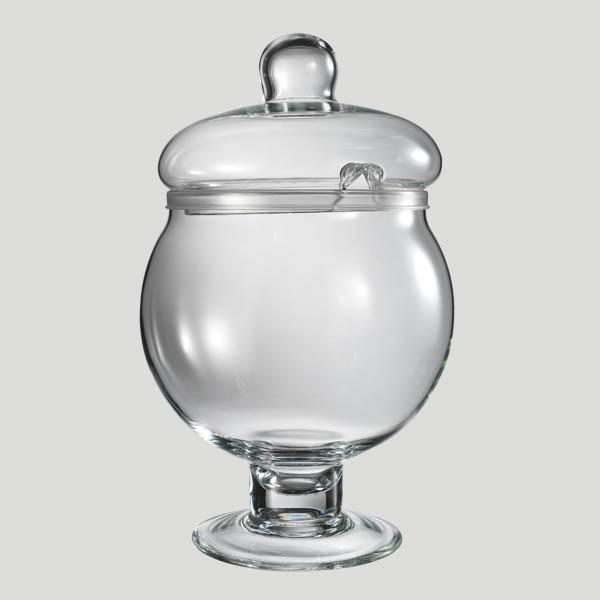 Poncera grande - poncera in vetro con coperchio - Gardagel