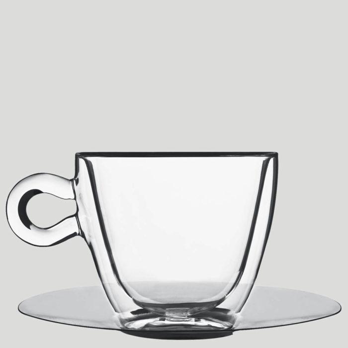 Tazza termica cappuccione - tazza cappuccino termica in vetro - Gardagel