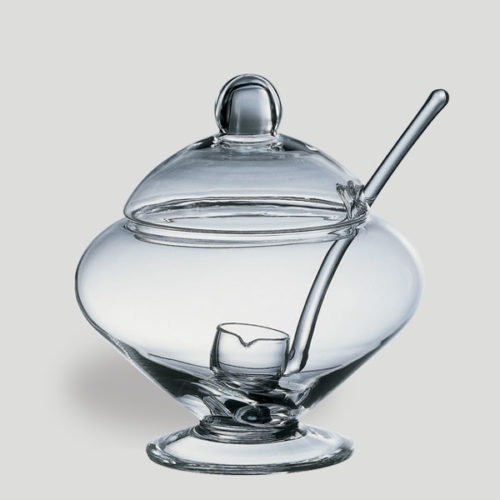 Poncera large - poncera in vetro con coperchio - Gardagel