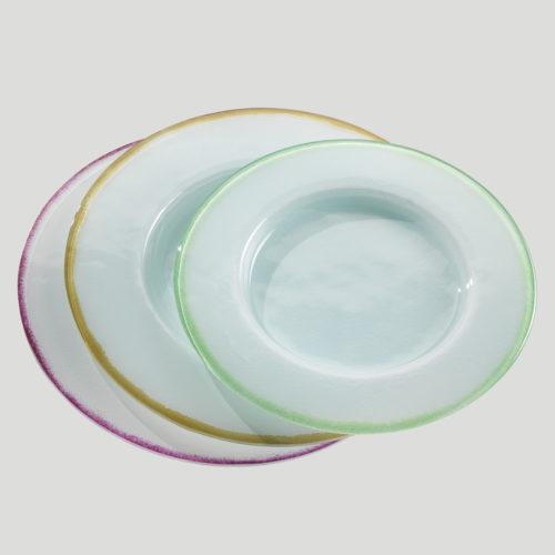 Piatto Tondo - piatto in vetro per gelato e dessert - Gardagel