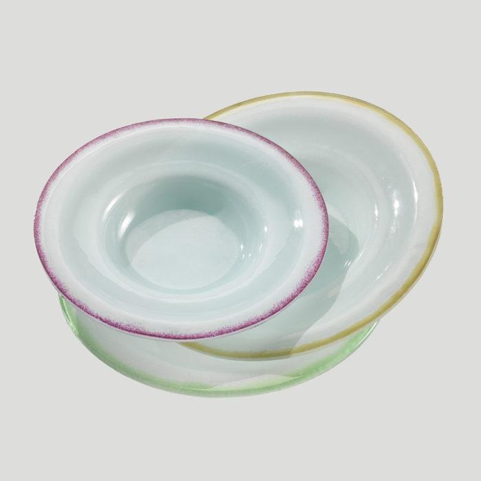 Piatto Fondo - piatto in vetro per gelato e budini - Gardagel