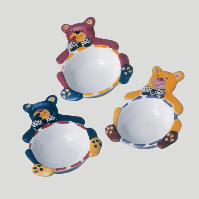 Orsetto Birbante - coppetta in porcellana per gelato bambini - Gardagel