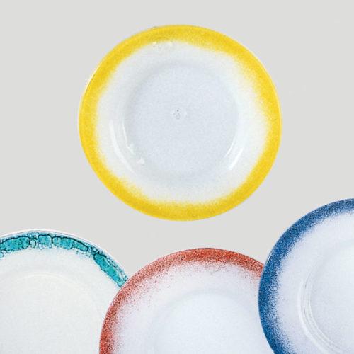 Piatto medio - piatto per gelato e dessert in vetro - Gardagel