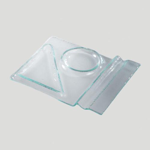 Vassoio cappuccino e brioche - vassoio in vetro per cappuccino e brioche - Gardagel