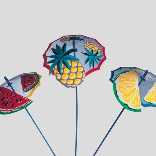 Ombrello frutta - decorazione per gelato e cocktail - Gardagel