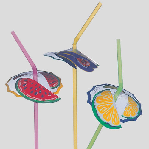 Decorazione ombrellino frutta - decorazione per cannucce - decorazione per drink e cocktail - Gardagel