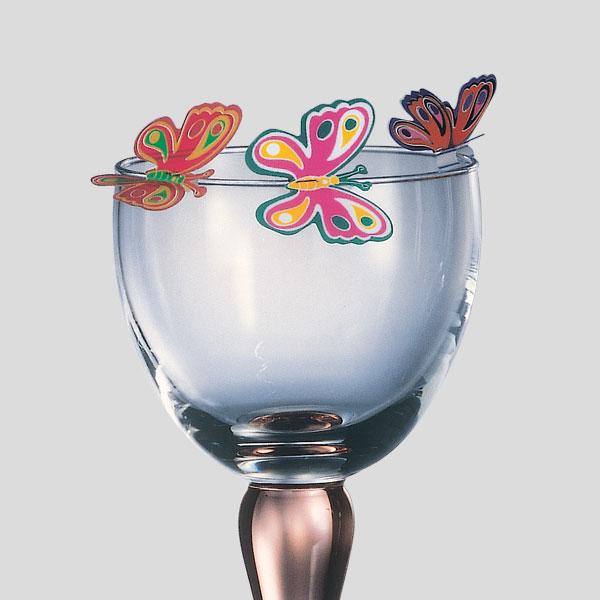 Decorazione farfalla iride - decorazione per bicchiere cocktail - Gardagel
