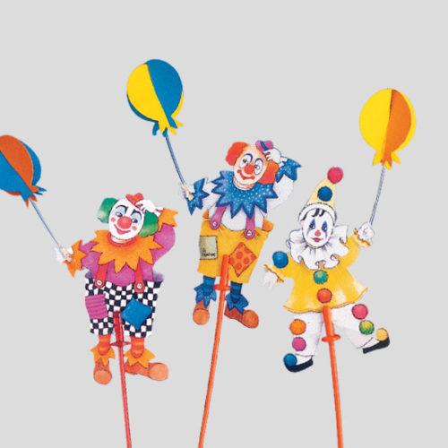 Decorazione clowns - decorazione per bambini - decorazione per coppe gelato - Gardagel