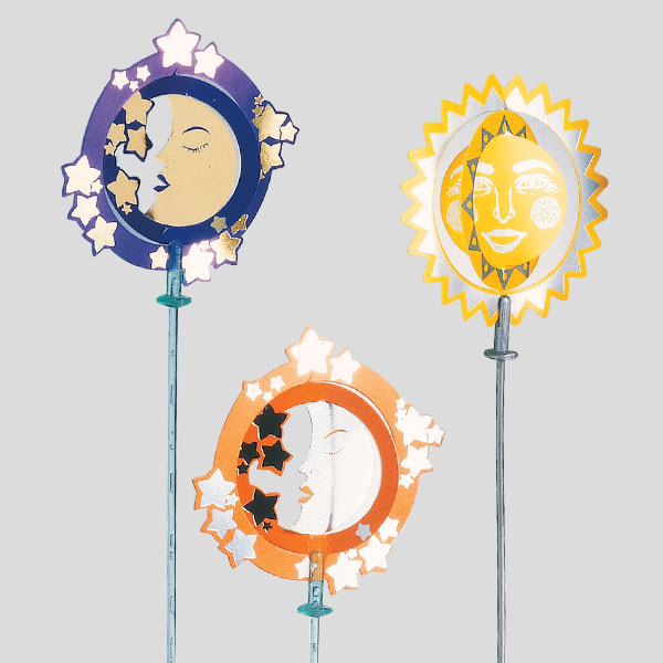 Decorazione sole luna - decorazione per coppe gelato - Gardagel
