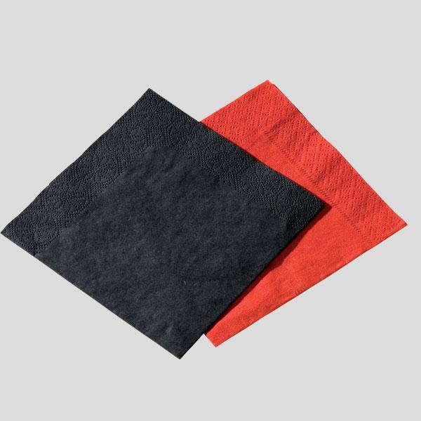 Tovaglioli quadrati - tovaglioli 2 veli - tovagliolo rosso - tovagliolo nero - Gardagel